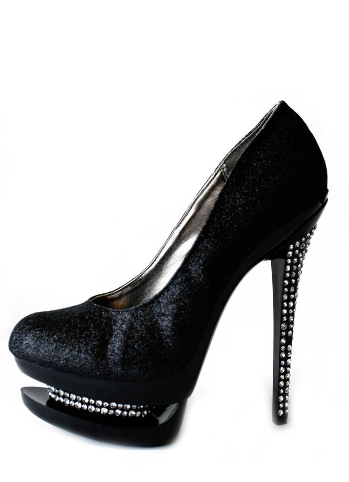 GLITTER PLATFORMS - black - Haute & Rebellious