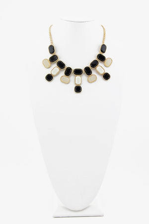 CERAM & BLACK STONES NECKLACE - Haute & Rebellious