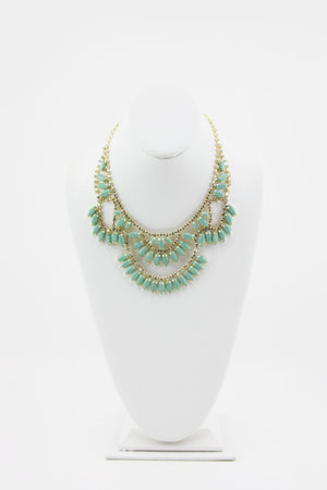 JASMINE DRAPED MINT CRYSTAL NECKLACE - Haute & Rebellious