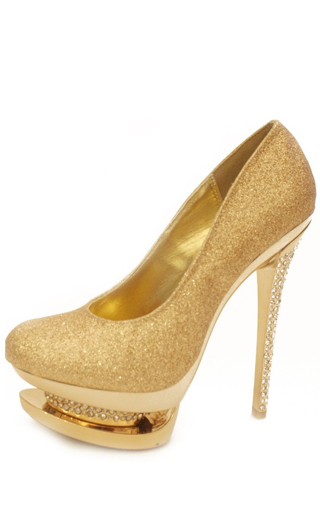 GLITTER PLATFORMS - gold - Haute & Rebellious