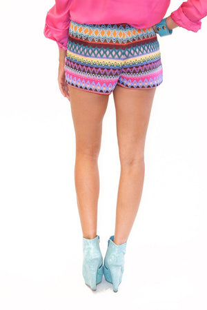 ANYA TRIBAL SHORTS - Fuchsia - Haute & Rebellious