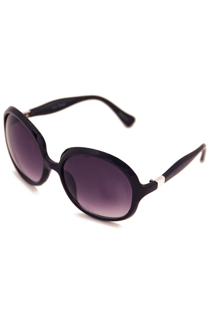 OVERSIZE OVAL FRAME SUNGLASSES - Black