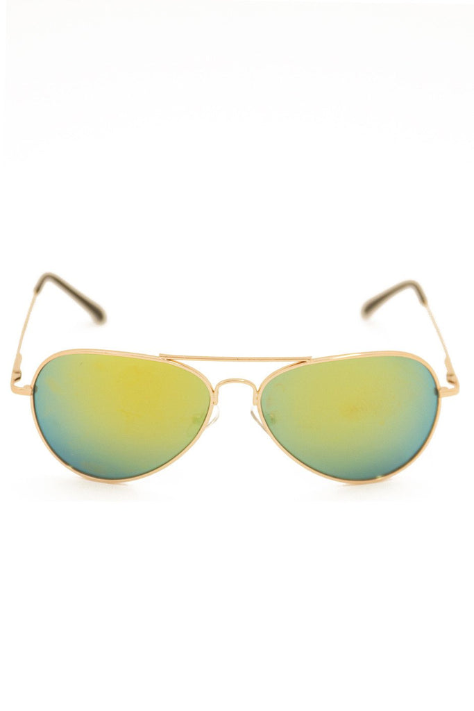 METALLIC TINT LENS AVIATOR - Gold Frame