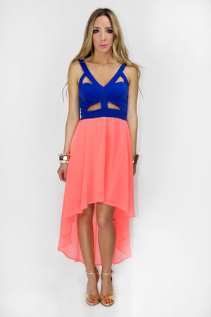 HAILEY CUTOUT NEON DRESS - Haute & Rebellious