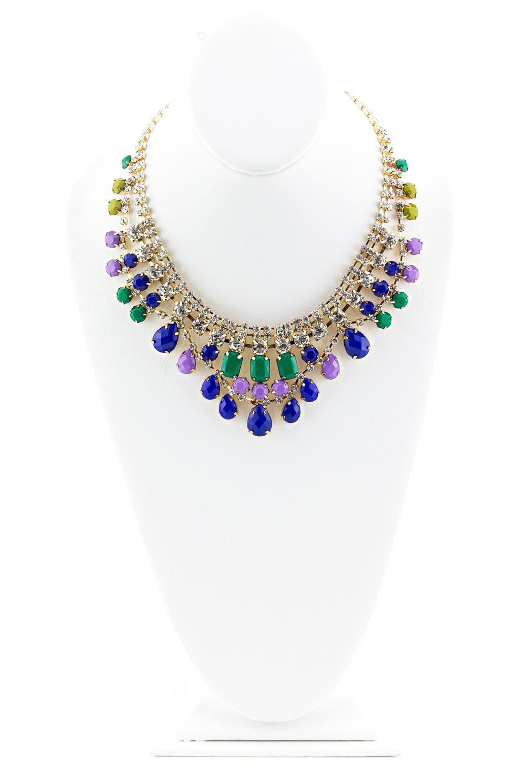 CRYSTALS & GEMS GODDESS NECKLACE - Blue/Green - Haute & Rebellious