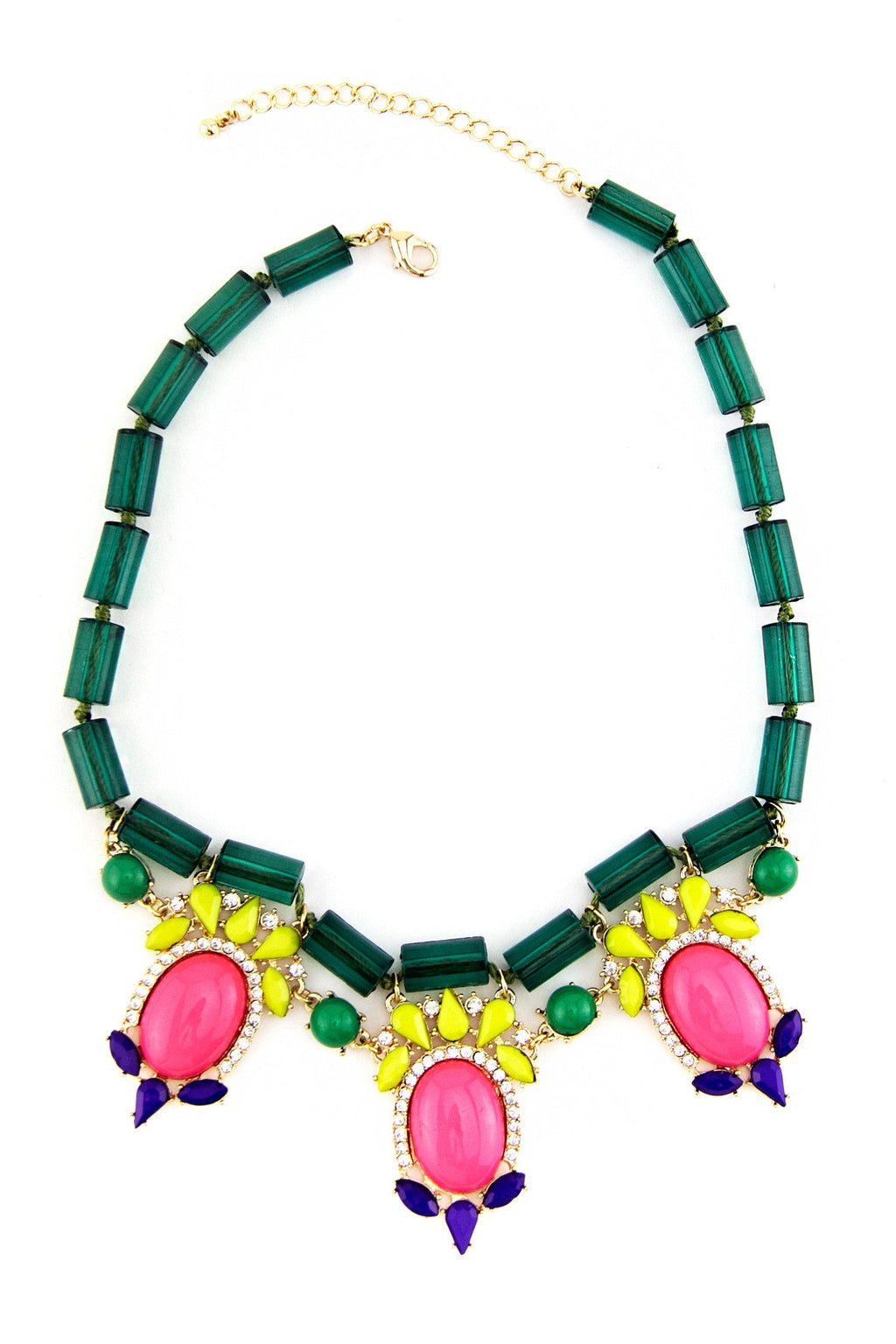 COLORFUL GEM STONES NECKLACE - Haute & Rebellious