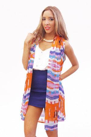 Haute & Rebellious MULTI-COLOR VEST in [option2]