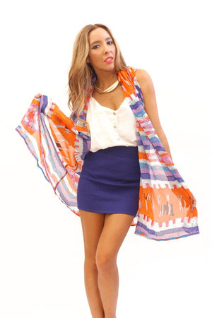MULTI-COLOR VEST - Haute & Rebellious