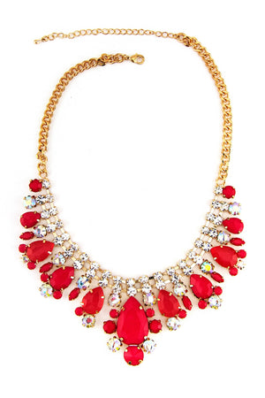 GEM STONE NECKLACE - Red - Haute & Rebellious