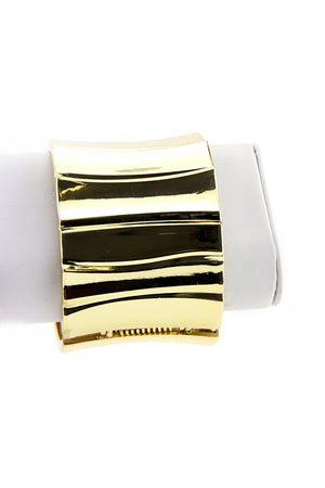 GOLD CUFF BANGLE - Haute & Rebellious
