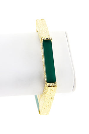 HEXAGON BRACELET - Emerald/Gold - Haute & Rebellious
