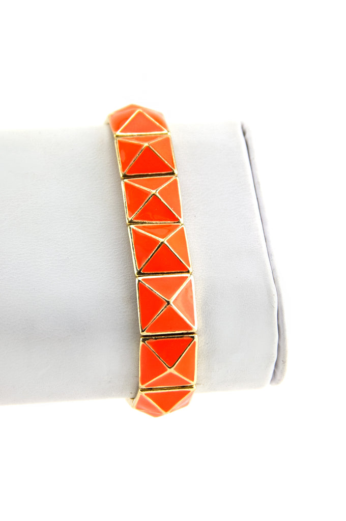 PYRAMID GEL COAT BRACELET - Neon Orange - Haute & Rebellious
