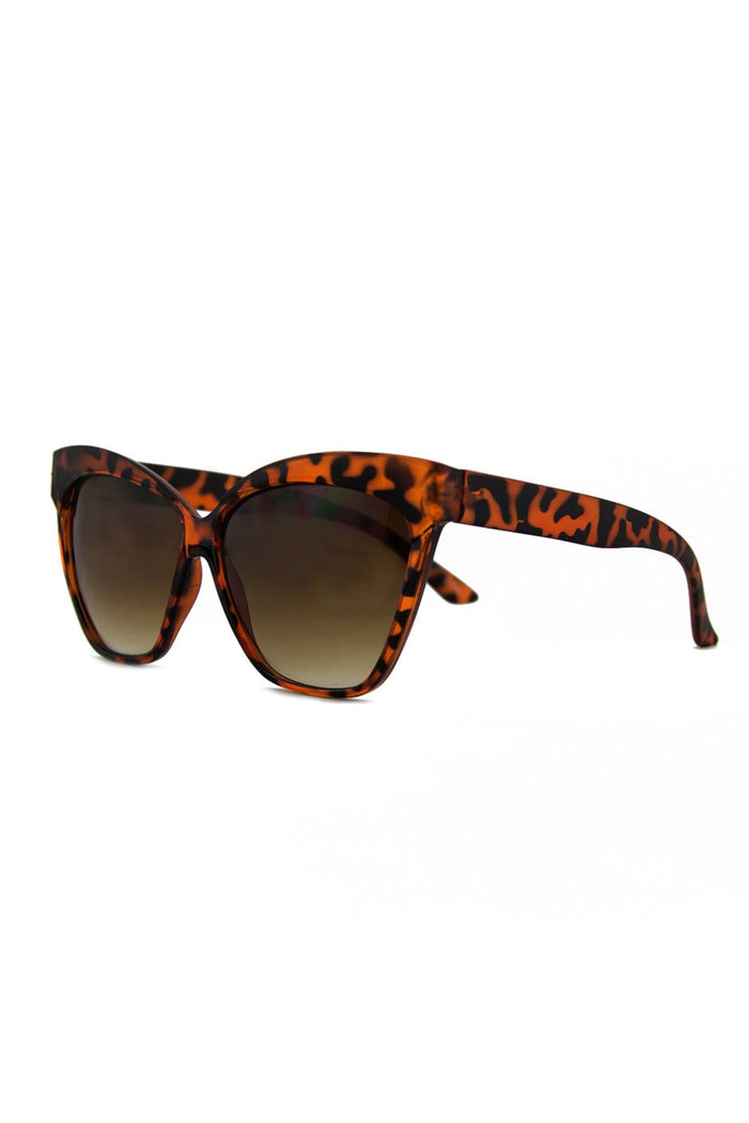 CAT-EYE SUNGLASSES - Tort