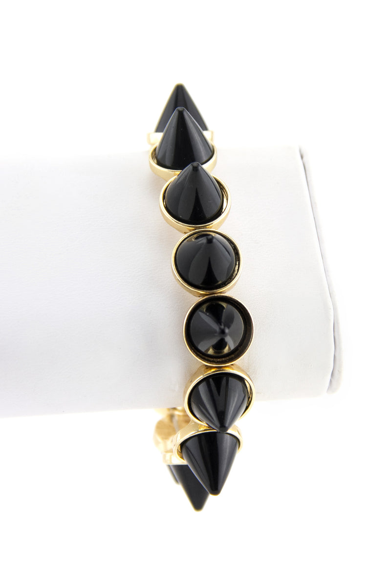 SPIKED STRETCH BRACELET - Black/Gold - Haute & Rebellious
