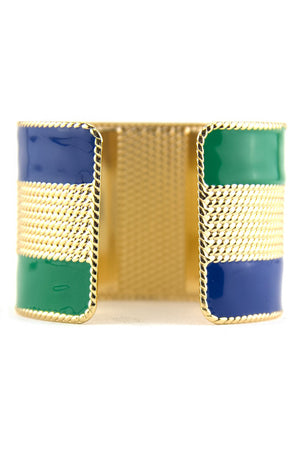 COLOR BLOCK CUFF - Green/Blue - Haute & Rebellious