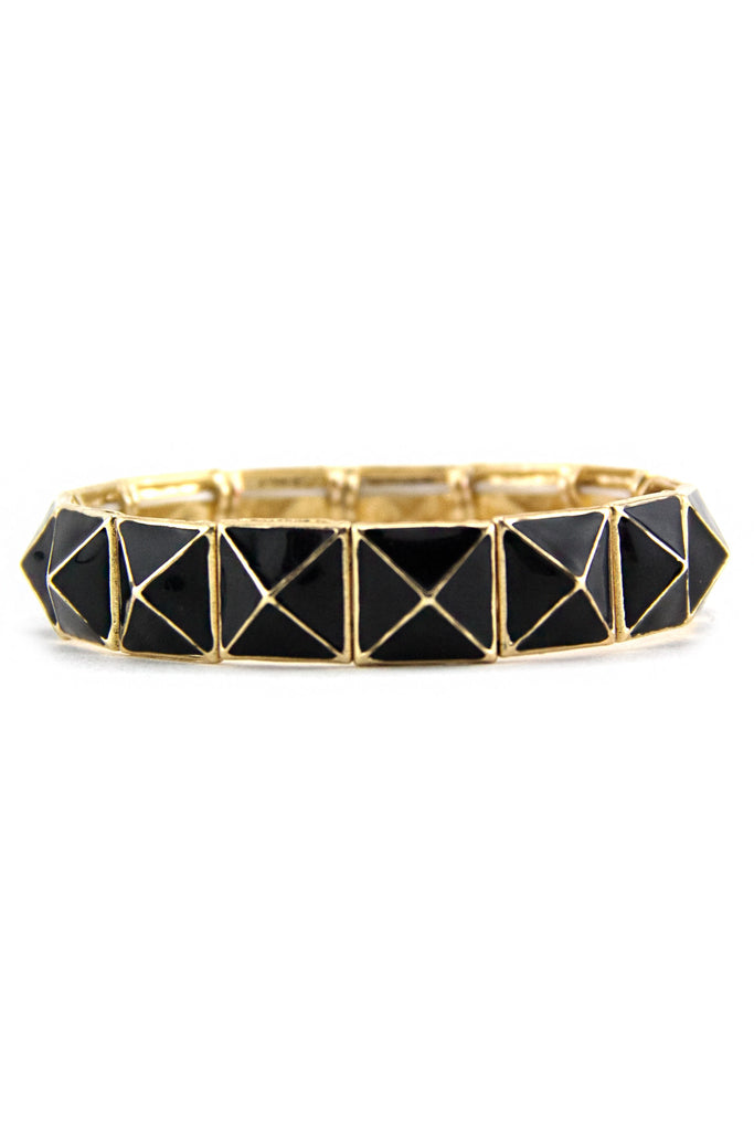 PYRAMID GEL COAT BRACELET - Black