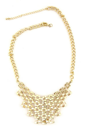 HOLE PATTERN NECKLACE - Gold - Haute & Rebellious