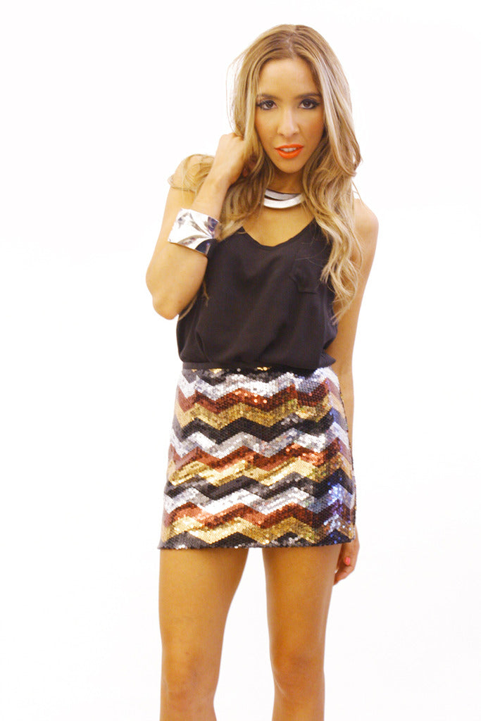 TRIBAL SEQUIN SKIRT - Haute & Rebellious