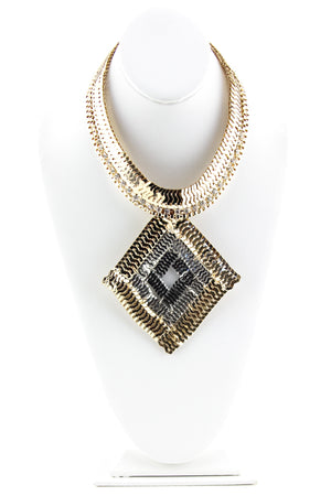 PHARAOH LINK NECKLACE - Gold - Haute & Rebellious