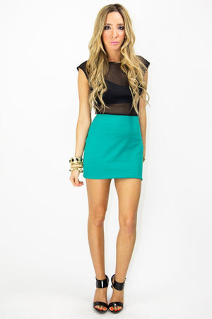 LEAH MESH DRESS - Deep Teal - Haute & Rebellious
