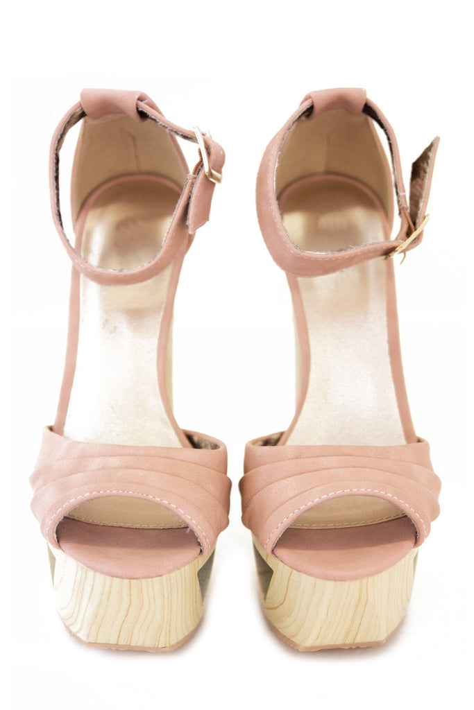 JENNI WOOD CUTOUT PLATFORM - Vintage Rose - Haute & Rebellious