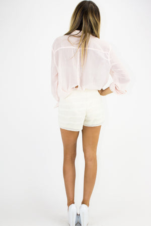 PLEATED SHORTS - Beige - Haute & Rebellious