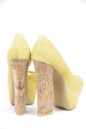 HAILEY PLATFORM - Yellow - Haute & Rebellious