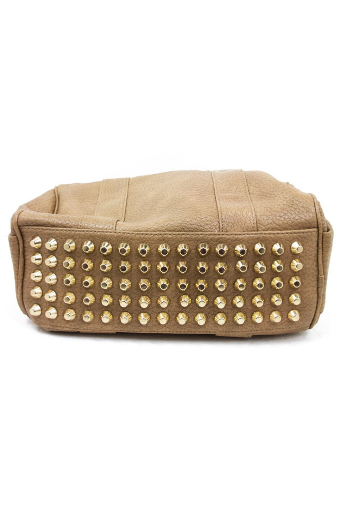 ERICSON GOLD STUDDED BAG - Taupe