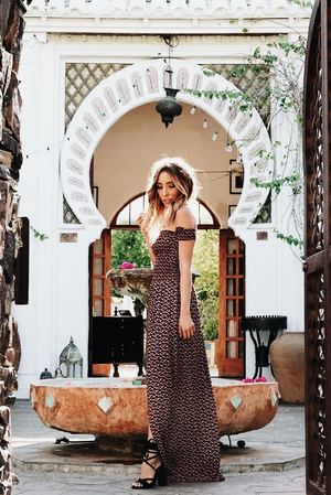 Marrakech Off-Shoulder Maxi Dress - Haute & Rebellious