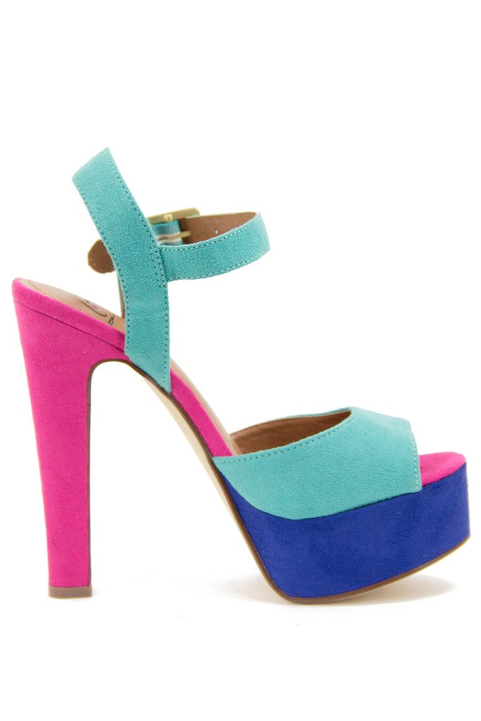 AUBREY COLOR BLOCKING HEEL