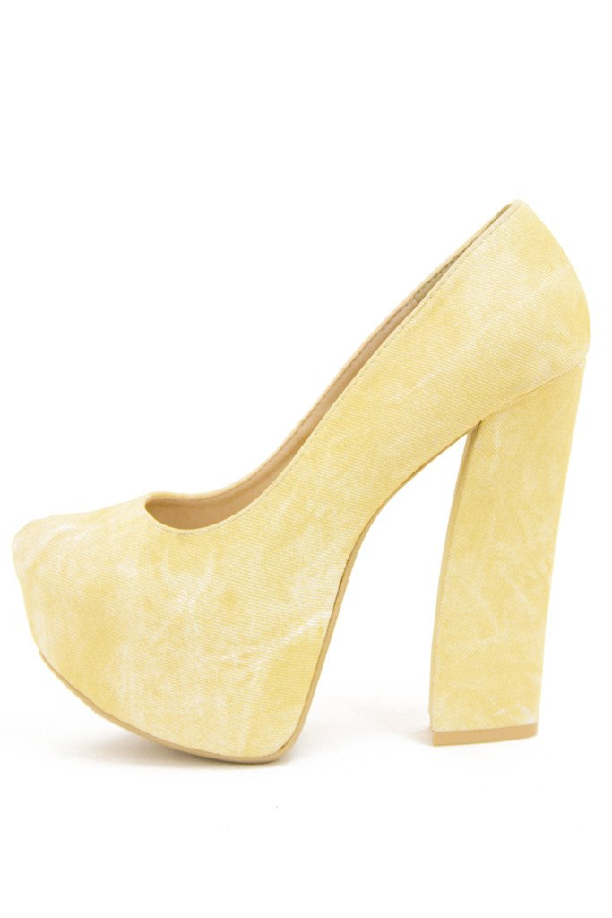 MARTHA PLATFORM - Pastel Yellow