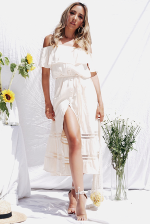 Field of Dreams Button-Up Midi Dress - Haute & Rebellious