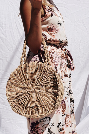 Circle Handle Basket Bag - Haute & Rebellious