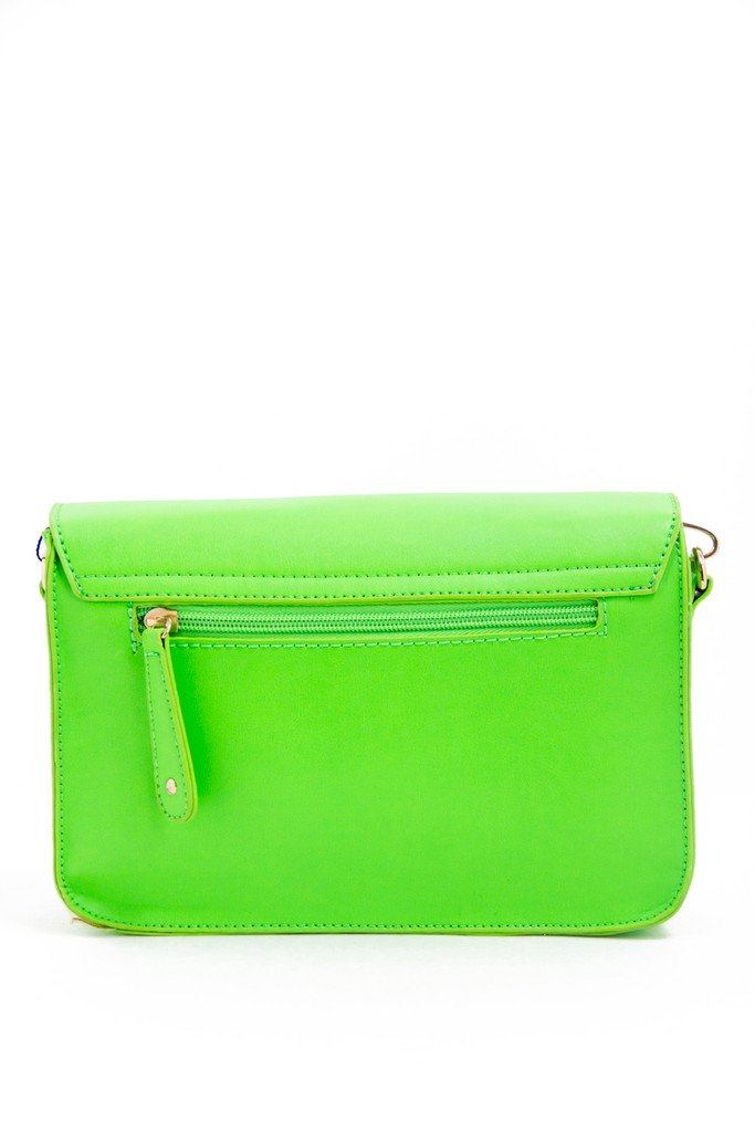 GREEN NEON SATCHEL