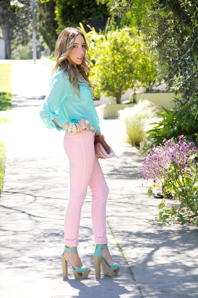 CONNIE SOFT SKINNY PANT - Pink (Final Sale)