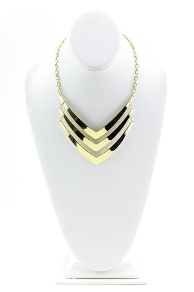 LAYERED POINT NECKLACE - Gold - Haute & Rebellious