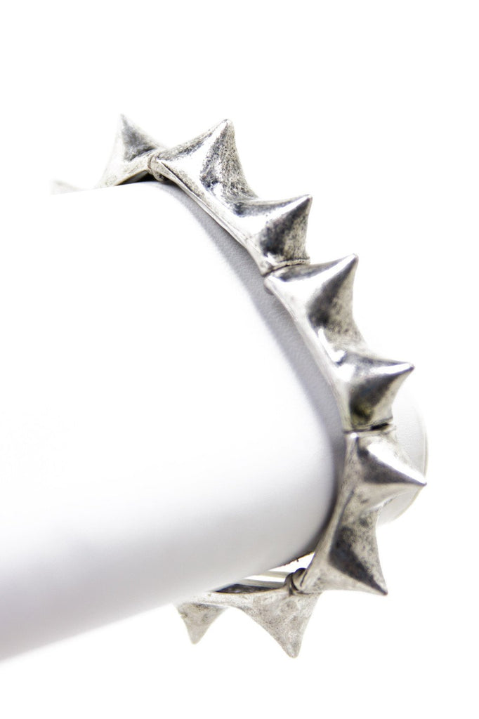 ARALEUS BRUSHED METAL SPIKE BRACELET (Final Sale)