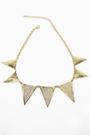RAVEN TRIANGLE NECKLACE - Gold (Final Sale) - Haute & Rebellious