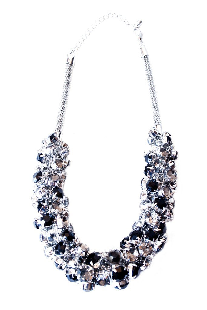 CRYSTALS & STONE POPER NECKLACE - Haute & Rebellious