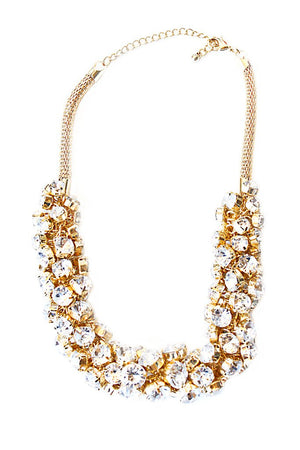 GOLD FLOWER POP CRYSTALS NECKLACE - Haute & Rebellious