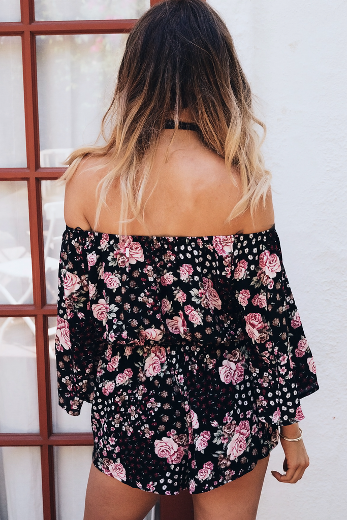Flower Power Off-Shoulder Set