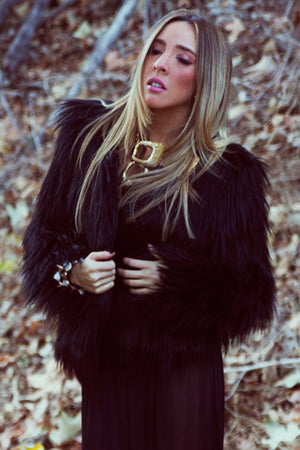 FAUX FUR COAT - Black - Haute & Rebellious