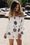 Between Stars Bell-Sleeve Dress - White - Haute & Rebellious
