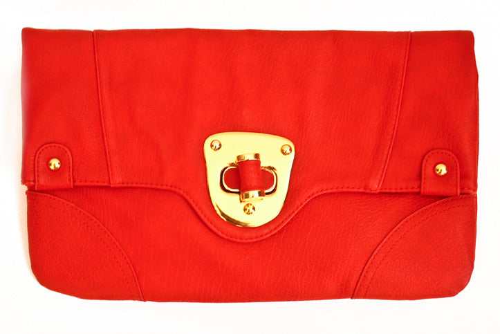 RED ENVELOPE CLUTCH - Haute & Rebellious
