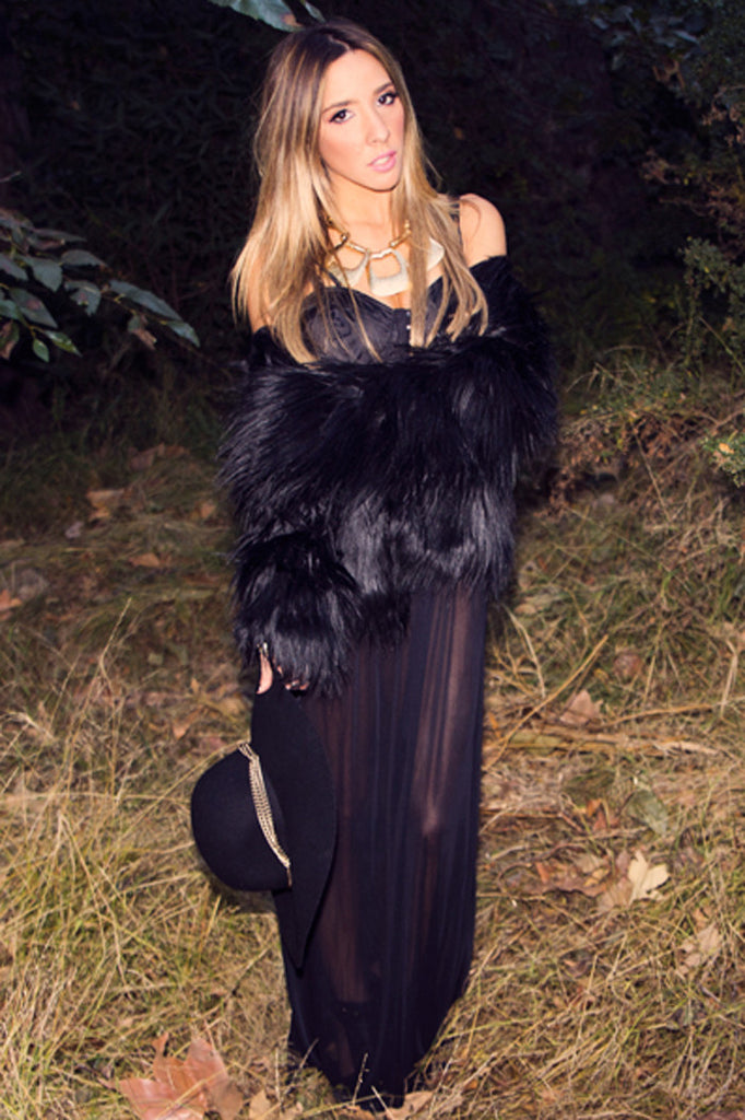 SEE-THROUGH MAXI DRESS - Black - Haute & Rebellious