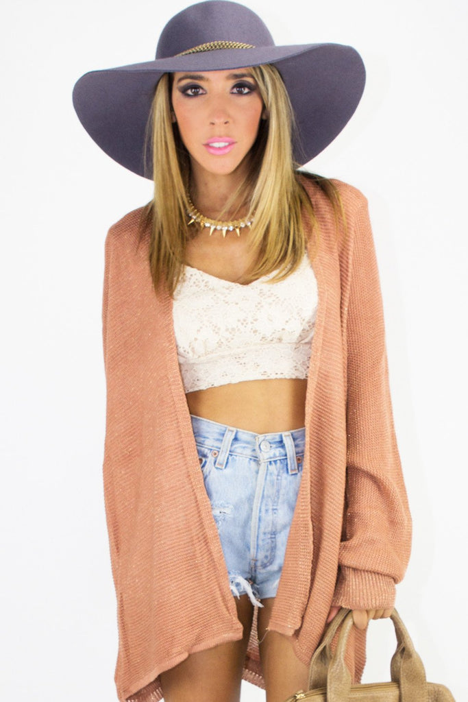 LACE CROPPED TOP - Beige (Final Sale)