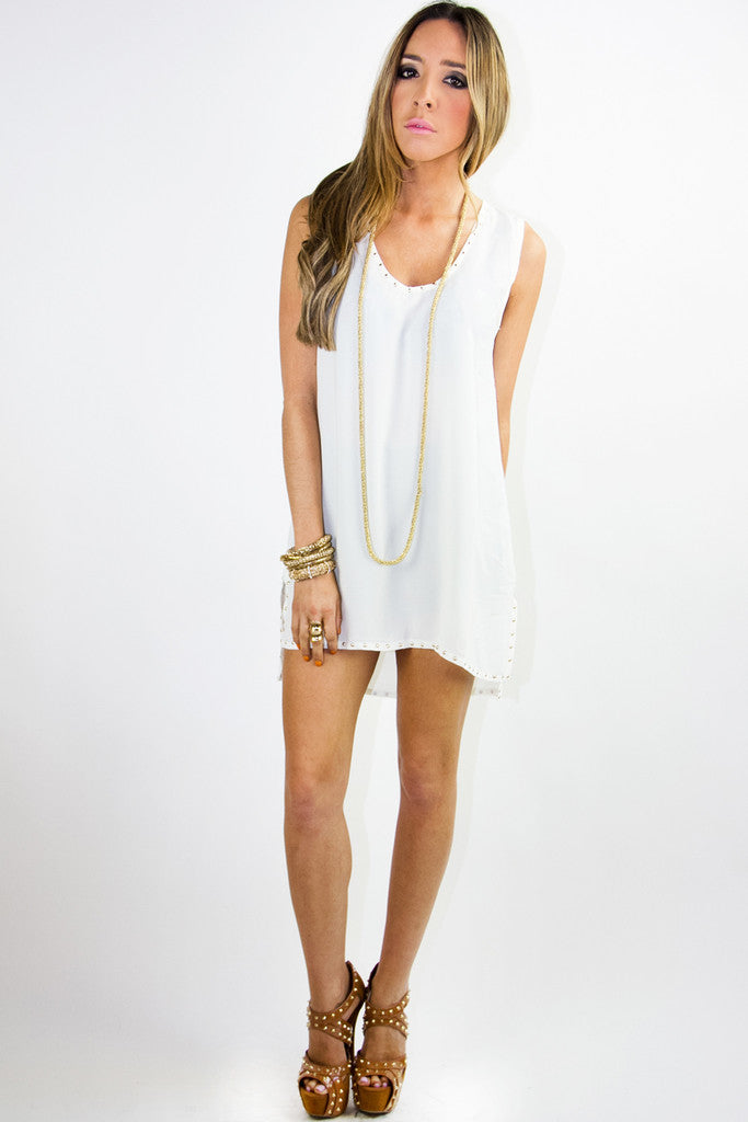 STUDDED TUNIC - Off White