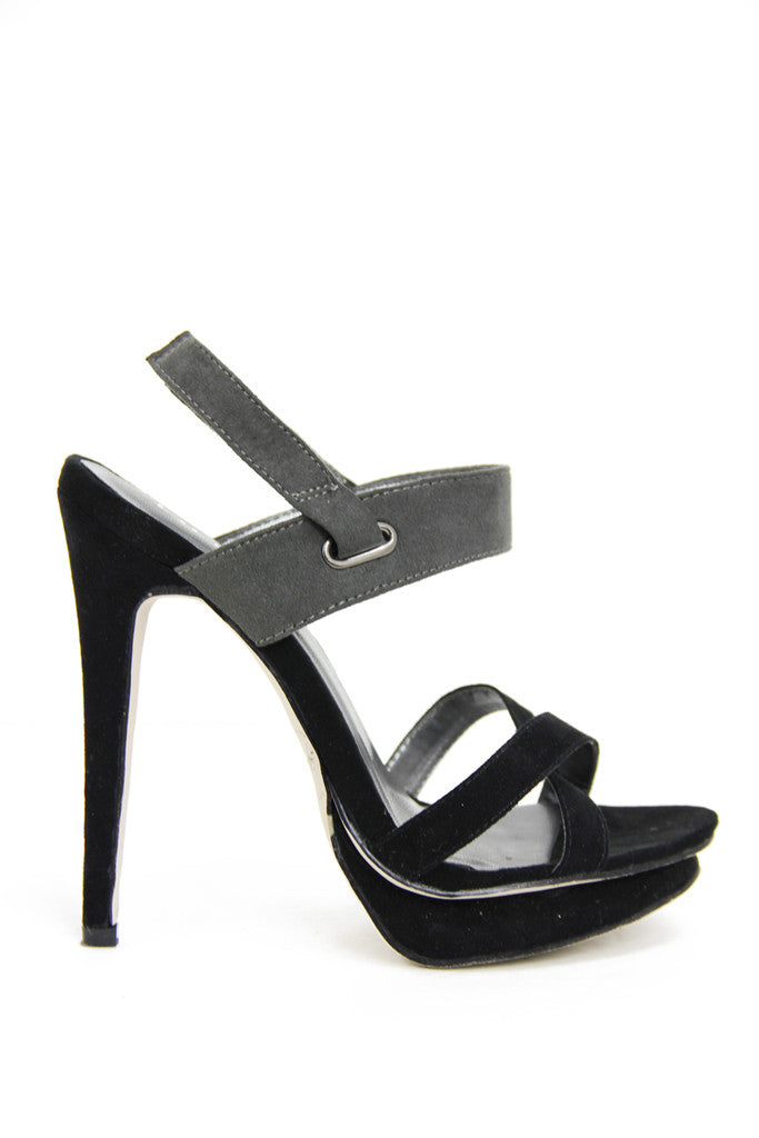 TWO TONE HEEL - Black/Charcoal (Final Sale)