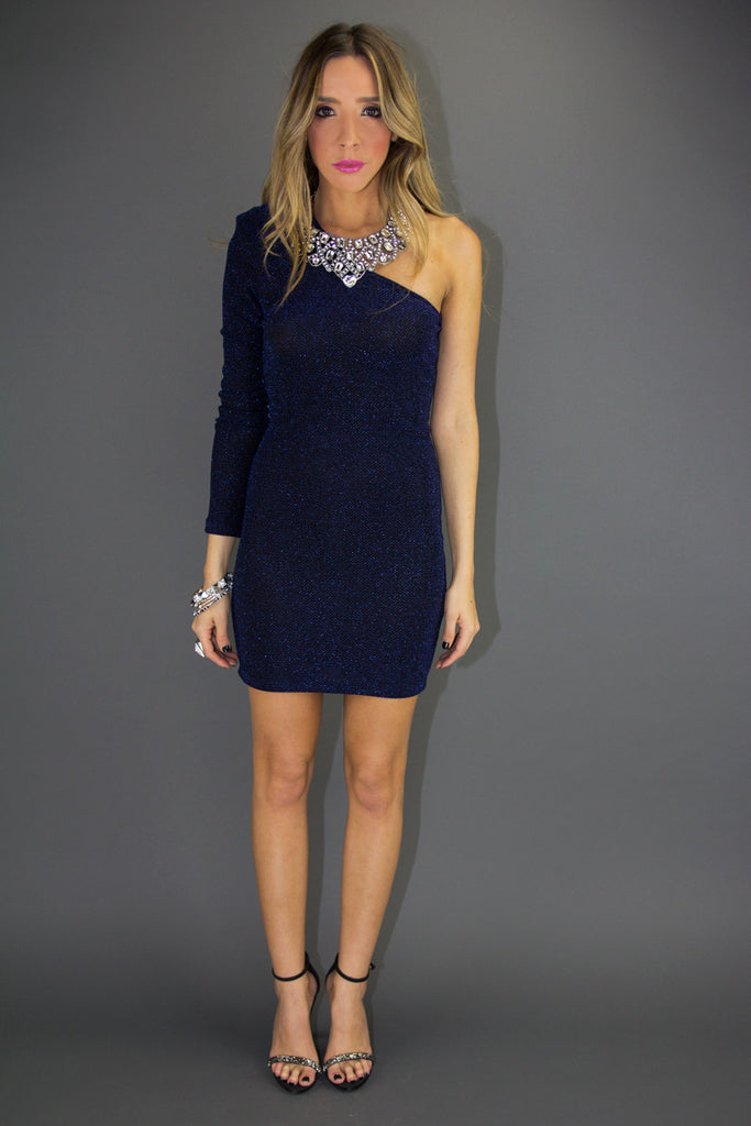 STARY NIGHT ONE SHOULDER DRESS (Final Sale)