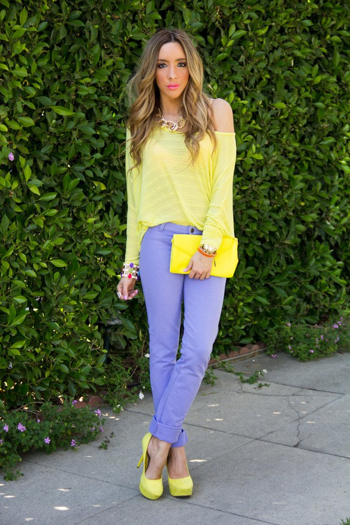 NEON LIME YELLOW TOP